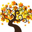 Autumn tree background. vector illustration — Imagens vectoriais em stock