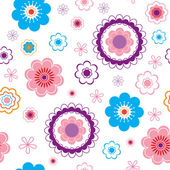 Funny seamless flower background. — Stock Vector