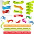 Royalty-Free Stock Vector Image: Stickers and banners set