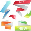 3d arrows and banners set. Vector elements — Stock Vector