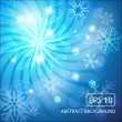Abstract christmas background with snowflakes — Stock Vector #7223872
