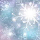 Silver abstract background with snowflake — Stock Vector