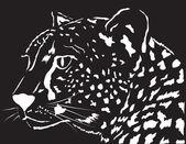 Portrait of a leopard. Vector illustration — Stock Vector