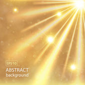 Abstract gold background. Vector illustration — Stock Vector