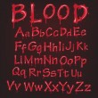 Stock Vector: Abstract red Vector blood alphabet.