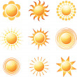 Abstract sun icon collection. — Stock Vector