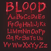 Abstract red Vector blood alphabet. — Stock Vector