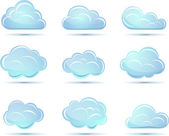 Vector clouds collection. Weather icons — Stock Vector