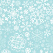 Snowflake christmas and new year seamless pattern - Stock Vector