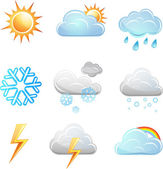 Weather icon vector set — Stock Vector