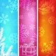 Abstract christmas banners set. — Vecteur