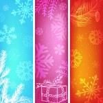 abstrakt jul banners som — Stockvektor