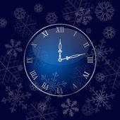 Christmas wall clock background — Stock Vector