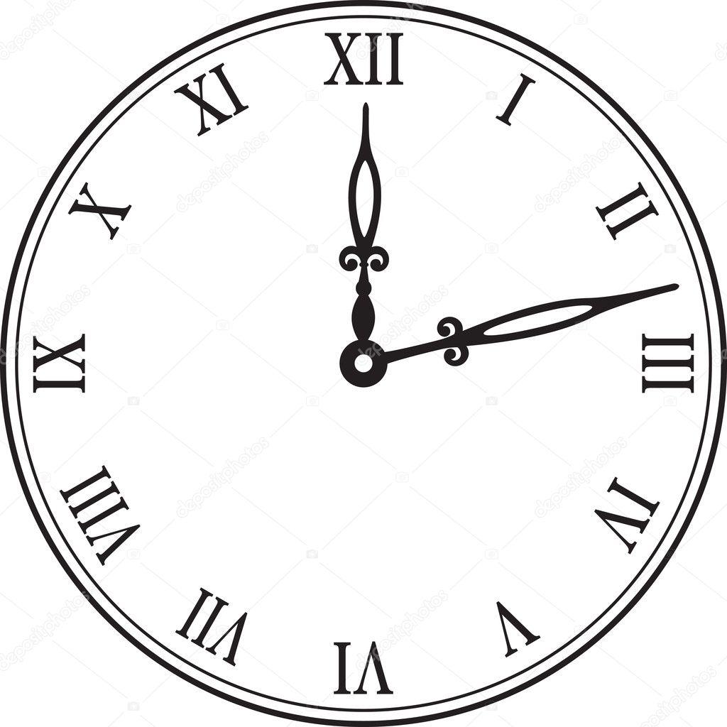 Black wall clock vector illustration stock vector - Reloj de pared original ...