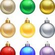 Isolated christmas balls set. — Stock Vector