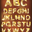 3d gold alphabet. vector for design — Stock Vector