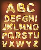 3d gold alphabet. vector for design — Stock Vector