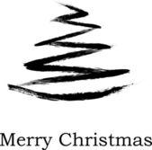Abstrakter weihnachtsbaum auf weißem hintergrund — Stockvektor
