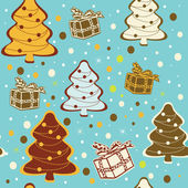 Seamless christmas background. — Stock Vector
