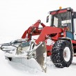 Tractor ready to work, winter snowplow — Stock Photo #6839248