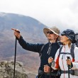 Couple Hiking in Himalaya Mountains — Stockfoto #7499939
