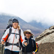 Couple hiking in mountains — Stock Photo #7499949