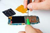 Reparação celular — Fotografia Stock