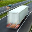 Highway traffic, truck on road — Stock Photo