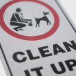 No dog poop sign — Stock Photo #7529789