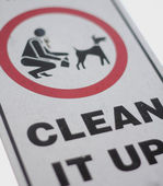 No dog poop sign — Stock Photo