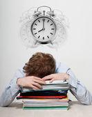 Employee sleeping — Stock Photo