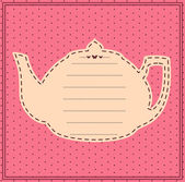 Vintage sweet tea pot. Vector — Stock Vector