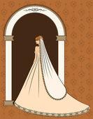 Illustration of beautiful bride — Stock Vector