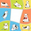 Set of cartoon dogs — Imagen vectorial