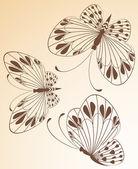Piękne motyle — Wektor stockowy