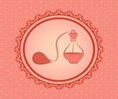 Cartoon vintage perfume. Vector background — Stock Vector