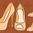 Royalty-Free Stock Vector Image: Vector beautiful pair of shoes with high heel