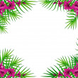 Background with beautiful tropical lillies — Imagen vectorial