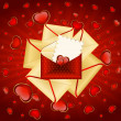 Celebratory envelopes with red hearts — Stock Vector #7218670