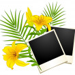 Photo frames with flowers — Stock Vector