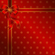 Christmas background with red bow - Stock Vector