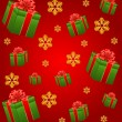 Stock Vector: Christmas background with gifts and snowflakes