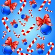 Christmas background with balls - Stock Vector