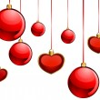 Vector christmas red balls — Stock Vector
