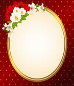 Vektorové pozadí s krásnými květinami — Stock vektor