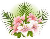 Fondo con flores. vector — Vector de stock