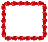 Red rose frame — Stock Vector