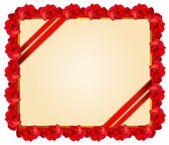 Cadre rose rouge — Vecteur