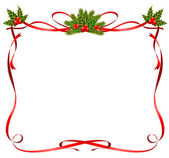 Christmas frame from ribbons — Stock Vector