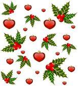 Boże Narodzenie tło z serca i jodła — Wektor stockowy